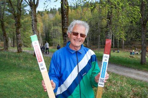 STOLPEJAKT PÅ SYKKEL: I tillegg til den vanlige stolpejakta har Kolbotn & Skimt orienteringslag og Ås IL gått sammen om 75 sykkelposter i Follo, forteller Jon Færden.