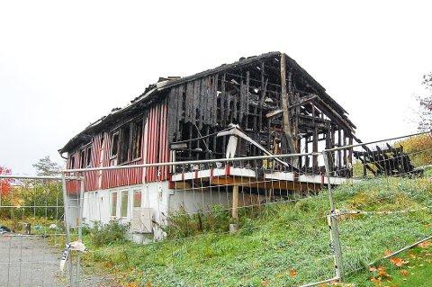 TOTALSKADET: Denne eneboligen i Kråkstad er en av boligene som har brent i Norge i 2020.