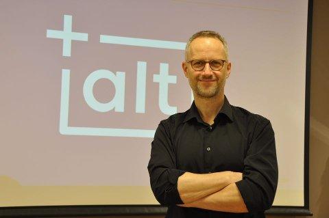 FORNØYD: Ole Werring, produktsjef og redaktør for +Alt i Amedia.