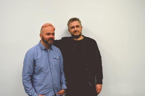 Thomas Aune (t.v.) og kollega Aleksander Schau.