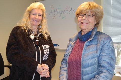 HOLTEGRENDA I VÅRE HJERTER: Siw Lind Leirfall (til venstre) og Randi Bakken er allerede blitt glade i gatenavnet de får når Holteveien skal byttes ut.
