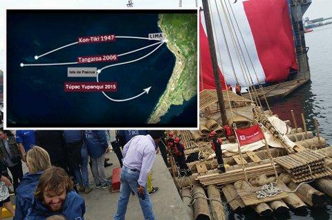 Her er rutene de to flåtene skal seile.