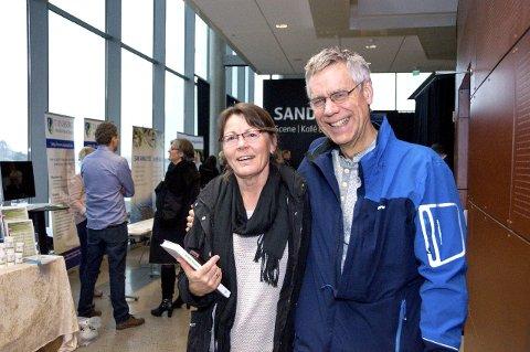Er med på bølgen: Vivian Gjersøe fra Tønsberg og Lasse Andreassen fra Folldal deltok på konferansen.
