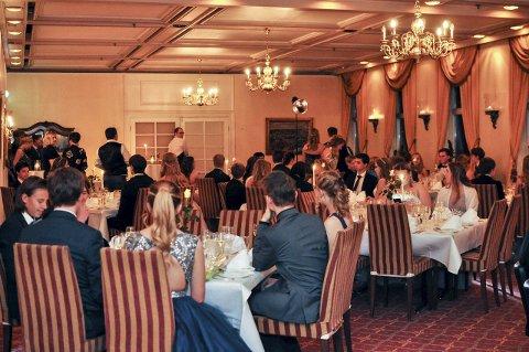 Ballsal: Selskapet fant sted i den fornemme Speilsalen på Grand Hotell.