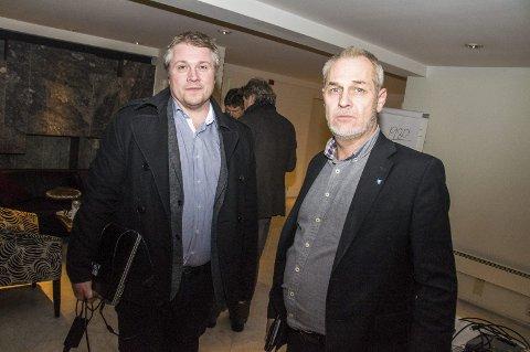 Nok er nok: Ordfører Rune Høiseth er lei av at Larvik taper kampen om statlige arbeidsplasser. Her sammen med næringsrådgiver Jørgen Johansen i Larvik kommune.arkivfoto