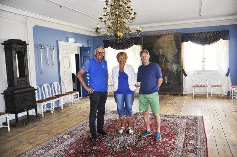 BAK: Jon Kåre Brekke, Lill Bjørvik og Kåre Christoffersen er sammen med Trond H. Bergan ildsjelene bak festivalen.
