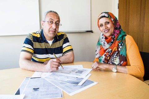 Mohannad Barakat og Amina Hersi.