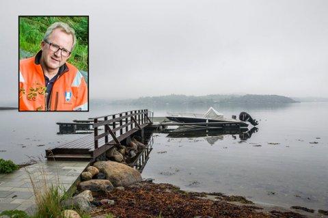 Bryggebaluba: Arne Nicander (innfelt) har nå engasjert advokat for å få en løsning på saken som har rullet og gått siden 2007. Foto: Lasse Nordheim/Bjørn Jakobsen