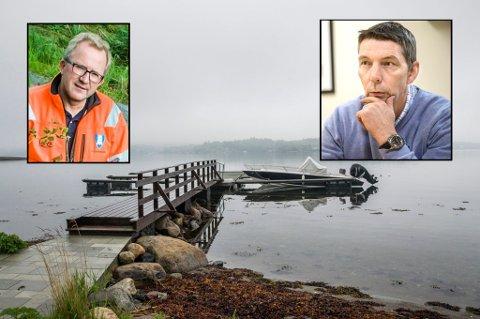 – Ikke bra: Det sier kommunalsjef Tom Henning Ruud om bryggebråket rundt Arne Nicander (innfelt), som nå er virksomhetsleder i kommunalteknikk.