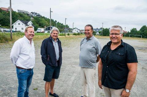 Even Borvik (t.v.), Hallstein Bast, Kåre Larsen og Tom Jørgensen.