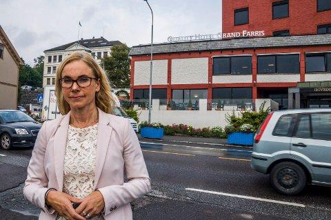 Én etasje ned: Birgitte Gulla Løken og Høyre håper å komme til enighet med Ap om Grandkvartalet. Arkivfoto: Lasse Nordheim