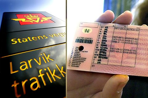 Det er ikke uvanlig at det jukses med elektronisk utstyr ved førerprøvene ved Larvik trafikkstasjon.