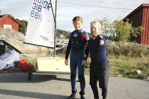 Populær instruktør: Vår flaggbærer fra De paralympiske leker i Rio, Bjørnar Erikstad, gjør en kjempejobb for unge seilere i Tønsberg. Dette vet Emil Schøning-Olsen å sette pris på.