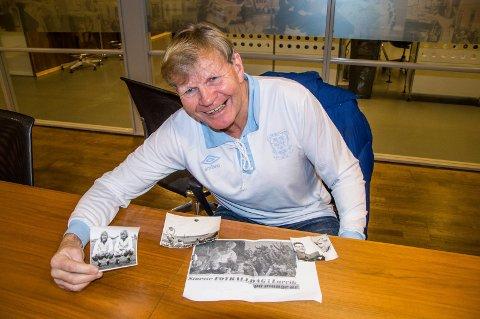 Fotballminner: Rolf Tanum - her i klassisk LT-trøye - har mange gode minner om Gunnar Thoresen.
