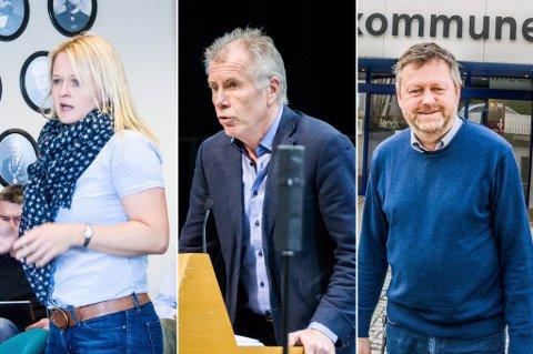 PÅ LØNNSTOPPEN: Rådmann Jan Arvid Kristengård (i midten) får en årslønn på 1.370.000 kroner når han overtar som toppsjef i nye Larvik kommune fra 1. januar. Ingvild Aartun, som blir assisterende rådmann, vil tjene 1.100.000. Kommunalsjef Jan-Erik Norder er tredje best betalt med en lønn på 1.072.000 kroner i året.