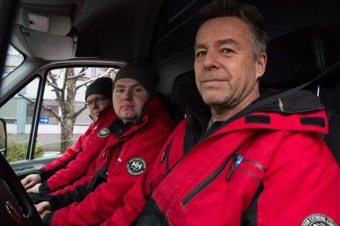 ANNULERT: Dag Einar Bjerke (Fremst) fikk annulert beltegebyret på 1.500 kroner. Det samme fikk Kjetil Skaara (bakerst). Dag Rune Kristiansen (i midten) fikk aldri bot.