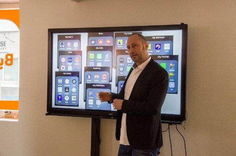 Terje Christensen i Smarte Byer Norge var i Larvik og holdt workshop i smartbydata.