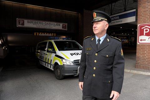 INNBRUDDSREDUKSJON: Politistasjonssjef Brian Jacobsen i Sandefjord kan melde om færre innbrudd denne påska enn det var i påska i fjor.