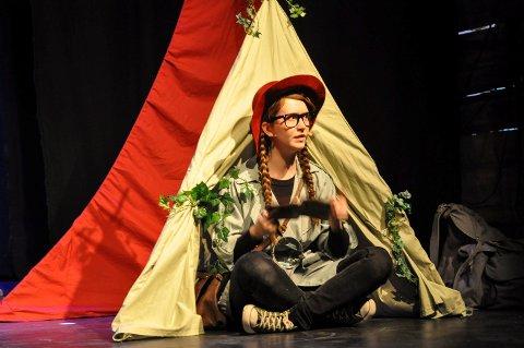SMARTINE: Miljødetektiven Smartine er en selvfølgelig figur på Teaterhuset nå for tiden.