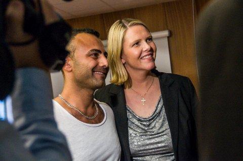 KLAR FOR Å BLI INTEGRERT: – Jeg vil utdanne meg til sykepleier, fortalte Sabry Hasan Al Shikh Ahmad da han møtte Sylvi Listhaug i Larvik tirsdag.