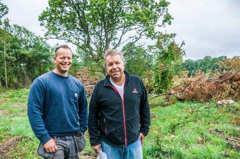 FLERE KONKURSER: Etter at Veldrebakken Prosjekt AS ble slått konkurs, har Thomas Hansen (t.v.) og Tom Skjønhaug meldt oppbud i to nye selskaper.