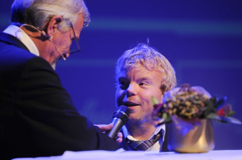 VANT PRIS: Bjørnar Erikstad ble folkets mann under idrettsgallaen i Tønsberg i fjor.