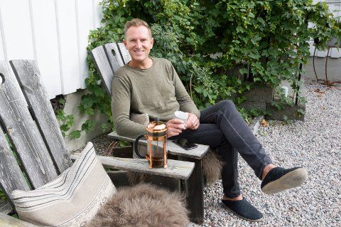 BRUKSHAGE: Halvor Bakke planlegger et nettkurs i hagedesign, og betegner sin egen hage som en brukshage.