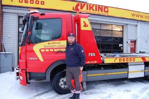 Ingen dag er lik: Anders Gui, bilberger i Viking, rykker i løpet av en dag ut på mange forskjellige oppdrag. - Ingen dag på jobben er lik, og heller ingen oppdrag er like, forteller bilbergeren.