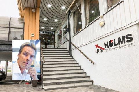 FRUSTRERT: Styreleder Stein Matre (innfelt) og Holms har fått beskjed om at de må avvikle driften innen 14 dager.