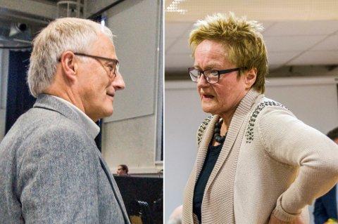 – RÅTT SPILL: Tormod Knutsen (t.v.) er misfornøyd med måten Ap og Turid Løsnæs gikk fram på i budsjettforhandlingene.