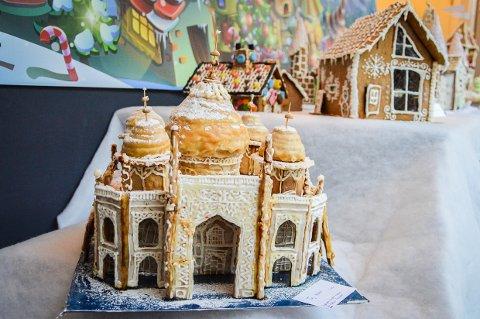 TAJ MAHAL: Selveste Taj Mahal kan bli ditt hvis du byr på pepperkakehuset hos Privatmegleren. Inntekten går til Frams gatelag.