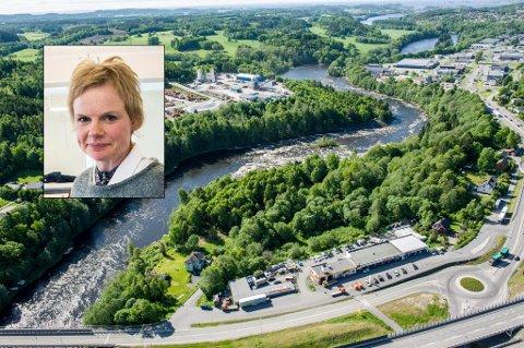MARKERER SEG: Venstres ordførerkandidat Magdalena Lindtvedt markerer seg med å foreslå utredning av Bommestad som alternativ jernbanestasjonplassering.