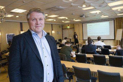 Gleder seg: Jørgen Johansen er næringsrådgiver i Larvik kommune og primus motor for Torsdagstanken.Arkivfoto: Lasse Nordheim
