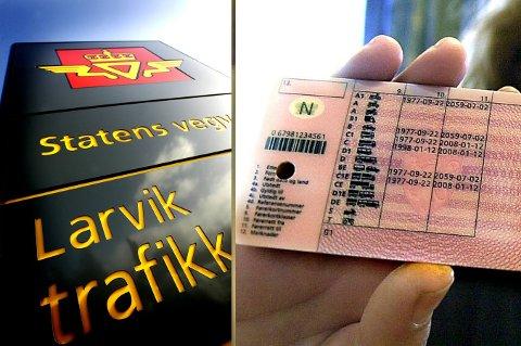 AVSLØRTE JUKSET: Det var ved Larvik trafikkstasjon at de ansatte avslørte jukset på teoriprøven. Det førte til at et nettverk som drev med systematisk juks, ble rullet opp.