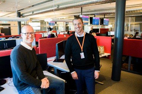 NY SJEF: Marius Vodrup (t.h.) har overtatt ledelsen av Falck Assistance Center etter danske Henrik Munk Andersen. Sistnevnte hadde stillingen på midlertidig basis under en stor omorganisering som nettopp er avsluttet.