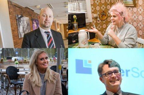 KJENDISER: Anders Anundsen, Line Elvsåshagen, Andrea Sveinsdottir og Øyvind Eriksen er alle kjendiser, men det er store forskjeller på hvor mye de tjener. (Arkivfoto/montasje)