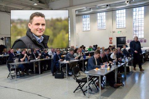 VENDTE TOMMELEN NED: Michael Stang Treschow har søkt om å overføre Fritzøe Skoger til et AS. Det bør han ikke få lov til, fastslo 26 av 43 kommunestyremedlemmer onsdag.