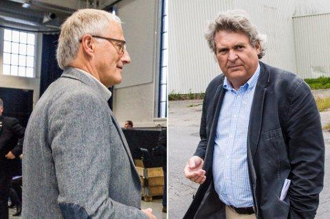 TO PÅ TOPP: Tormod Knutsen (t.v.) og Hallstein Bast topper listeforslaget fra nominasjonskomiteen sammen.