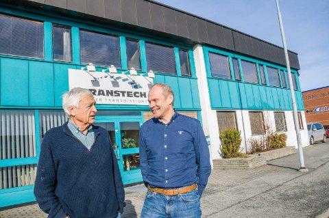 TROR PÅ BEDRE TIDER: Styreleder Nils Reidar Skauen (t.v.) og daglig leder Anders Lind kan glede seg over å ha inngått en ny kontrakt på 19 millioner kroner.
