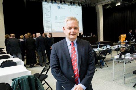 FORNØYD MED LISTA: Erik A. Sørensen er, ikke overraskende, BedreLarviks ordførerkandidat ved valget til høsten. Partiets valgliste ble vedtatt mandag.