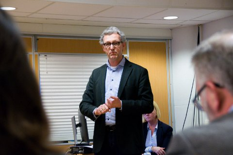 ORIENTERTE: NAV-leder Ulf Pedersen var på plass i formannskapet onsdag.