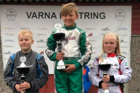 PÅ PALLEN: Vebjørn Grimeli, Martin Hannevold Holt og Elina Lie Rolfsen.