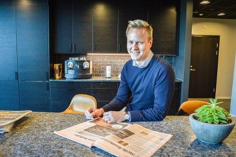 EN BIT LARVIK: – Vi er de første i verden som registrerer merkevaren for hvert enkelt materiale. Når Lundhs produkter er registrerte merkevarer, kan vi garantere opprinnelse og kvalitet på det som leveres, sier Thor-Anders Lundh Haakestad.