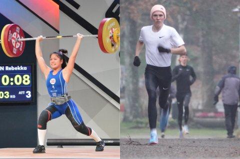 STIPEND: Rebekka Tao Jacobsen og Simen Halle Haugen får stipend.