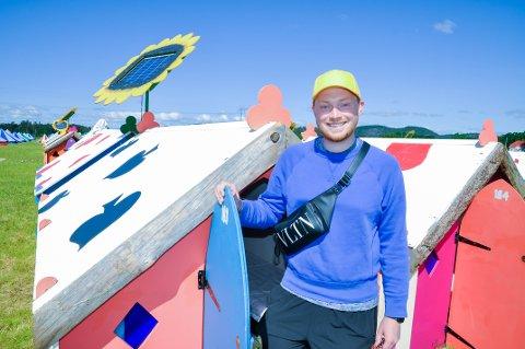 Campsjefen: Fritz T. Hokholt har jobbet i et år for å forberede den nye hovedcampen, Camp Stavernfestivalen, som skal huse 7500 mennesker.