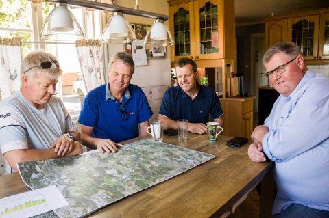 F.v.: Per Anders Lund, Ole Alexander Skaara, Halvor Skaara og Rolf Gjerstad. Foto: Lasse Nordheim