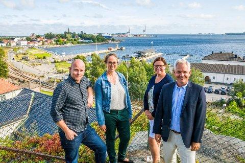 VIL FORBEDRE LARVIK: Pål Langvik (t.v.), Linda M. Johnsen, Gry Anette Lie og Erik A. Sørensen.