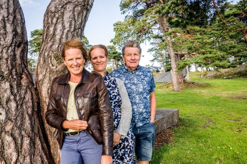 SV-TOPPENE: F.v.: Lisa Agathe Winther (2. kandidat), Asta Salvine Gulliksen (3. kandidat) og Gunnar Eliassen (ordførerkandidat).