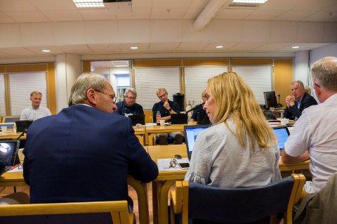 STEILE FRONTER: Per Manvik (t.v.) og Birgitte Gulla Løken var ikke helt på bølgelengde da jernbanesaken var oppe i formannskapet onsdag.