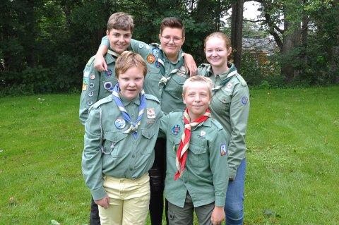 Dette er noen av speiderene som skal begynne i Østre Halsen KFUK-KFUM.